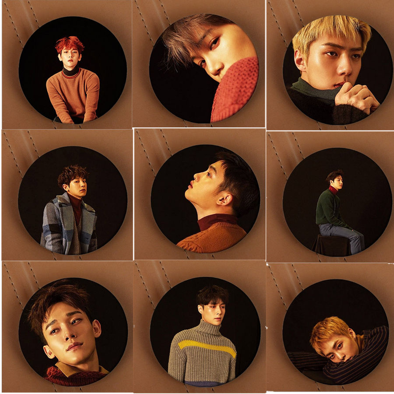 Youpop Kpop Korean EXO EXO-K EXO-M Winter Special Album For Life Pins Badge Accessories K-POP Brooches