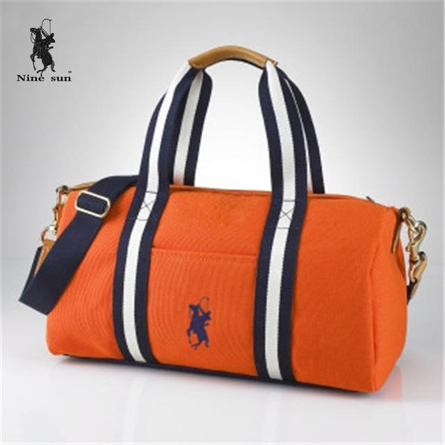 Air-parcel Hot Sale fashion Brand New Womens Polo Bags Canvas Bag Women Shoulder  Bags Fashion Hand bag Ladies  Orange Handbag 19a9de73b6d55