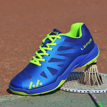 Badminton Shoes for Men Blue Professional Indoor Court Sports Sneaker Anti-Slippery Sport Shoes Quality Girls Badminton Trainers цена 2017