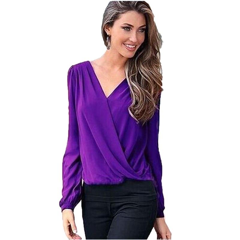 New Women Summer Fashion Elegant Lace Blouse Shirt Chiffon Long Sleeve Sexy Tops Big Size Women Clothing 15 Colors S-2XL