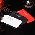 Simple Moda Blanco Negro Rojo Inglés Cartas de Dibujos Animados de Teléfono Con Estilo casos para iphone 6 6 s plus enfríe contraportada fundas Capa