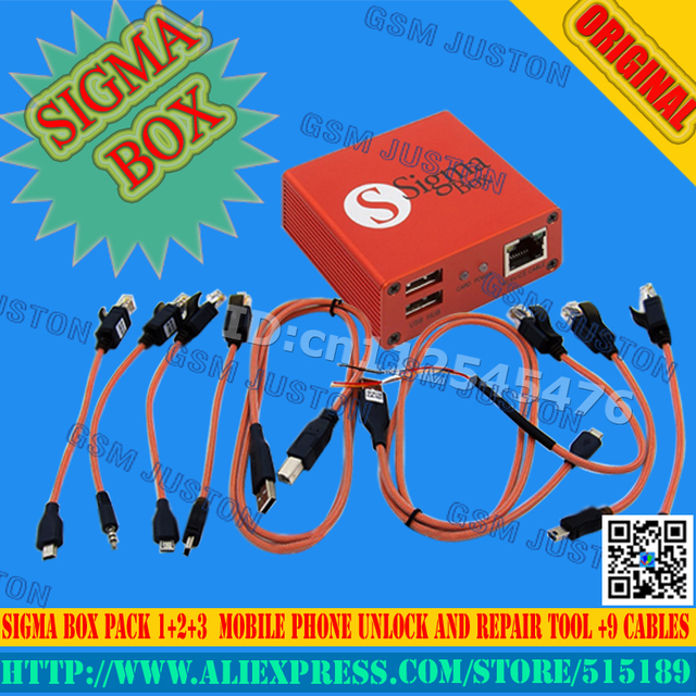 Sigma caja + pack $ number + pack2 + pack3 actived para huawei