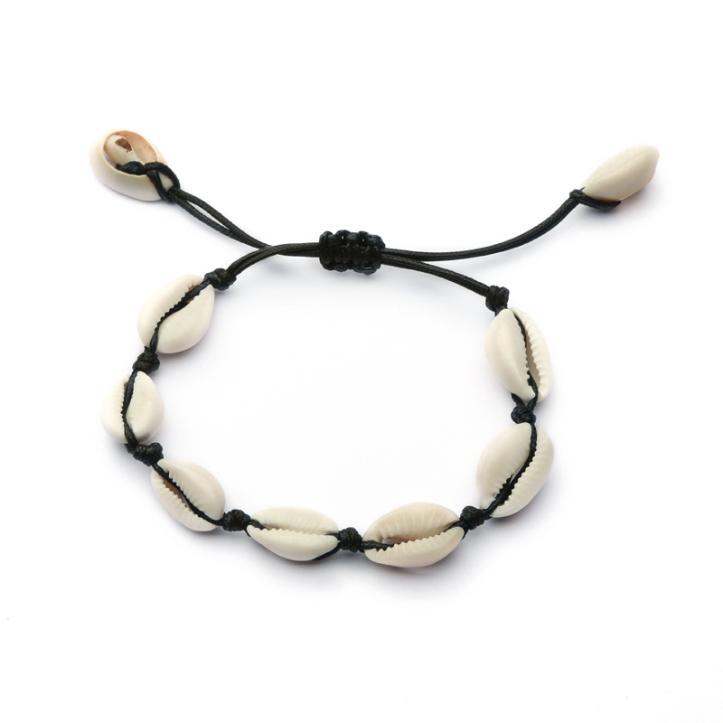 Yiustar Summer Woman Natural Shell Bracelet Gold Bangles Boho Sea Shells Bracelets Bangles for Women Girls Best Friends Gifts in Charm Bracelets from Jewelry Accessories