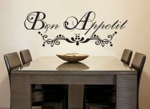 Wall Stickers Home Decor French Quote Bon E Vinyl Lettering Words Art Sticky Decals In From Garden On