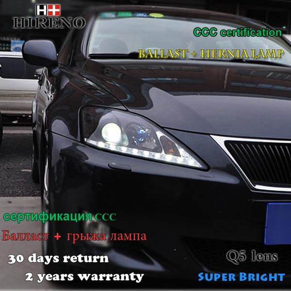 Conjunto Do Farol Farol Para 1998 2005 Lexus IS250 Hireno LED DRL Anjo  Lente Feixe