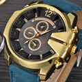 2016 Hot Luxury Brand XINEW Men Sports Watches Men's Quartz Hour Clock Male Casual Watch Leather Strap Army Military Wrist Watch