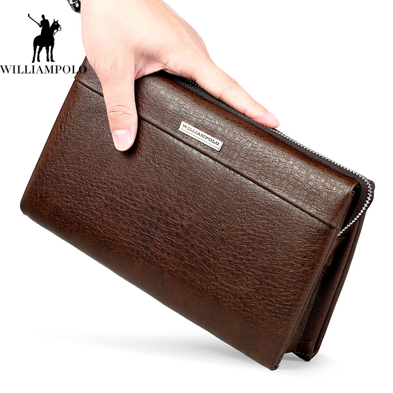 2017 New Classical Genuine Leather Wallet Vintage Style Men Wallet Fashion Large Capacity Long Wallet Men Luxury Brand Men Purse padieoe brand 2017 new men wallet genuine leather cowhide purse credit card wallet large capacity men s wallet free shipping
