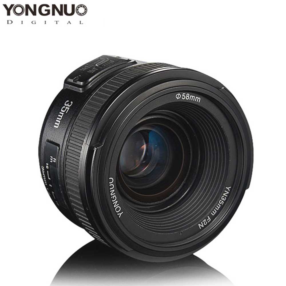YONGNUO 35mm Lens YN35mm F2.0 AF/MF Fixed Focus F1.8 AF/EF Lens for Canon Nikon F Mount D3200 D3400 D3100 D7100 for DLSR Camera