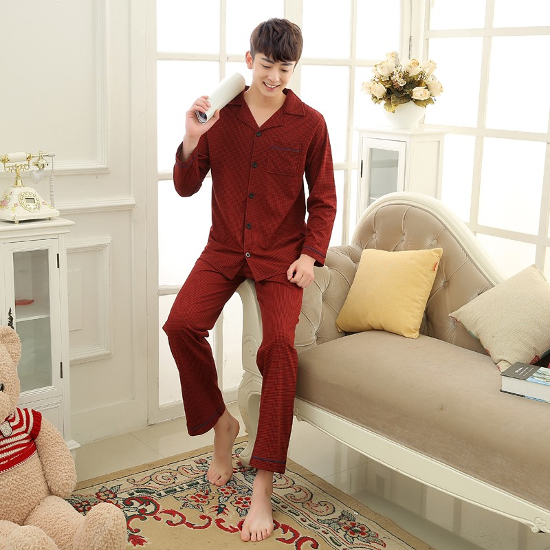 Men\'s Cotton Polyester Pajama Sets RBS-C LYQ1414 29