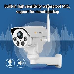 Image 2 - Einnov PTZ IP Camera 4X Zoom 1080P Outdoor Wireless Home Security Camera Wifi Video Surveillance Audio Record Onvif HD IR Wi fi