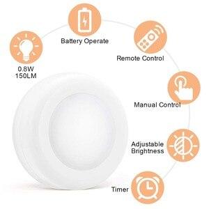 Image 2 - BTgeuse אלחוטי LED פאק אורות מטבח תחת קבינט תאורה עם שלט רחוק סוללה מופעל Dimmable ארון לילה אורות