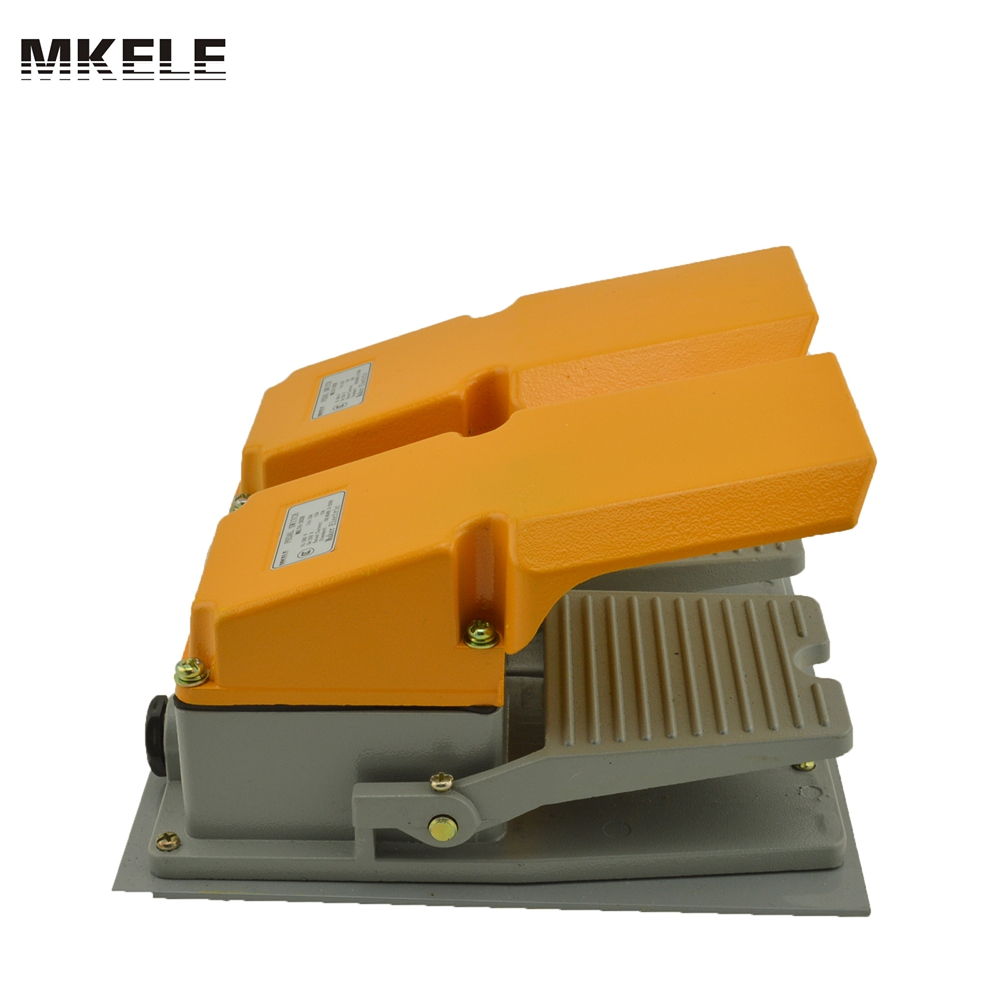 Hot sale MKLT4-202H factory price cheap CE Newest latest metal double pedal foot switch for bending machine punch hot sale lt4 202h factory price cheap ce newest latest metal double pedal foot switch for bending machine punch