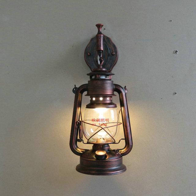 moda antiguos apliques de hierro forjado lmparas de pared lmpara de queroseno linterna de