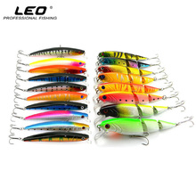 Minnow Fishing Lures Set 18pcs Hard Plastic Artificial Fishing Baits 3 Segments Jointed Swimbait Fishing Accessories