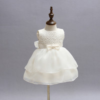 2017 Flower Girl Dresses For Wedding Pageant Prom Party White Dress Baby Kids Clothes Little Toddler Dress CE428