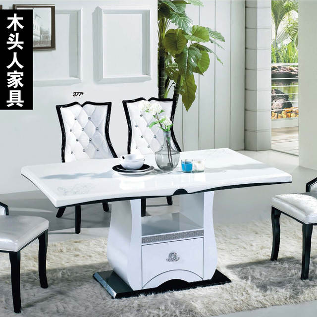 Superieur Online Shop Korean High Grade Wooden Furniture, White Marble Dining Table  Eight Long Dinner Table And Chairs European Fashion | Aliexpress Mobile
