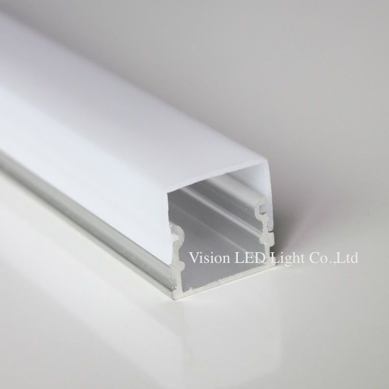 20m(10pcs) A Lot, 2m Per Piece, AP2114 Aluminum Profile For Led Light Bar With Milky Diffuse Cover