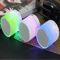 Portable Music Speaker Perfect Sound Flash LED Light Bluetooth Speaker USB TF/SD Wireless Subwoofer Loudspeakers Music Box