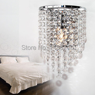 Modern crystal wall lamp contracted Europe type wall lamp bedroom wall lamp free shippingModern crystal wall lamp contracted Europe type wall lamp bedroom wall lamp free shipping