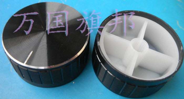 Free Delivery. Black Lace Aluminum Potentiometer Knob Knob High 16 MM Diameter Of 31.5 MM