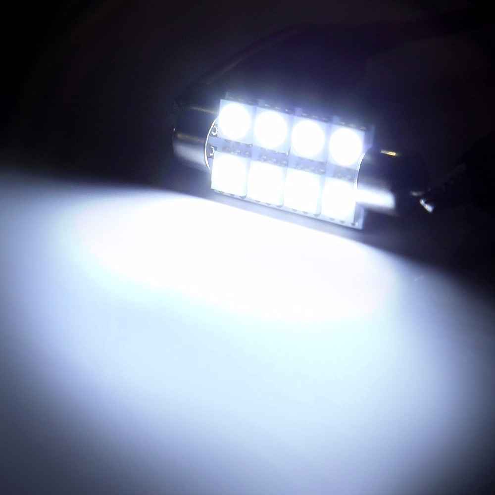 Image 3 - Sell 10pcs 42mm 8SMD 6500K Car Interior Light Festoon LED Interior Map Dome Door Lights Bulbs 211 2 578Color White-in Signal Lamp from Automobiles & Motorcycles