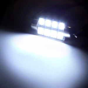 Image 3 - Verkauf 10 stücke 42mm 8SMD 6500K Auto Innen Licht Girlande LED Innen Karte Dome Tür Lichter Lampen 211  2 578 farbe Weiß