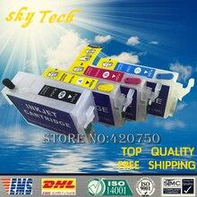 Пустые перезаправляемые картриджи для Epson T1401-T1404, подходит для работы с TX560WD NX635 WF-3520 WF-3530 WF-3540 TX620FWD и т. д., с чипом Arc