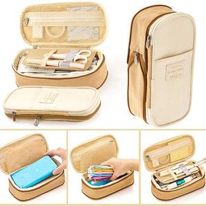 Image 5 - 2019  Storage Organizer Canvas Large Capacity Bag Holder Storage Bags Case Multifunctional Zipper School Portable Pencil Case