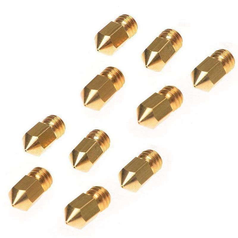 Image 3 - 10PCS 0.4mm MK8 Extruder Nozzle /3D Printer Nozzle for 3D Printer CR 10 CR 10S S4-in 3D Printer Parts & Accessories from Computer & Office