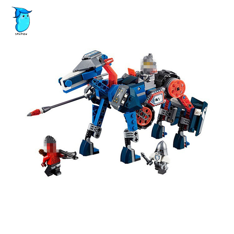 StZhou LEPIN Nexo Knights Axl Lance's Mecha Horse Combination Marvel Building Blocks Kits Toys Compatible Legoe Nexus lepin nexo knights jestros volcano lair combination marvel building blocks kits toys compatible legoings nexus legoings