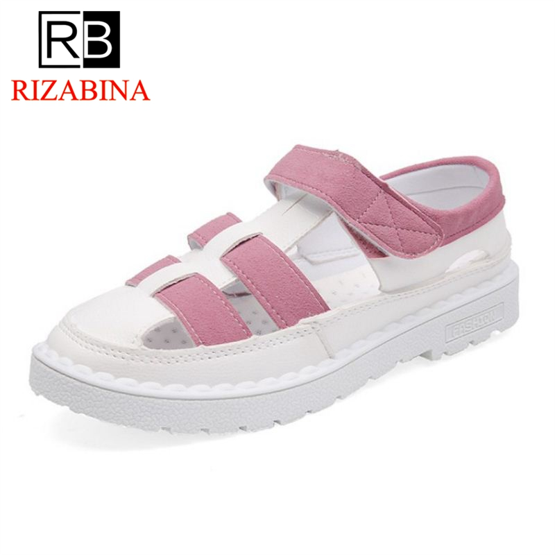 RizaBina Women Gladiator Flats Sandals Mixed Candy Color Fashion Sandals Daily Shose Women Summer Beach Footwear Size 36-40