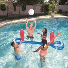Гигантский надувной бассейн игрушка волейбол Футбол мяч игры одежда заплыва игрушки надувные матрасы Большой Плавающий остров лодка