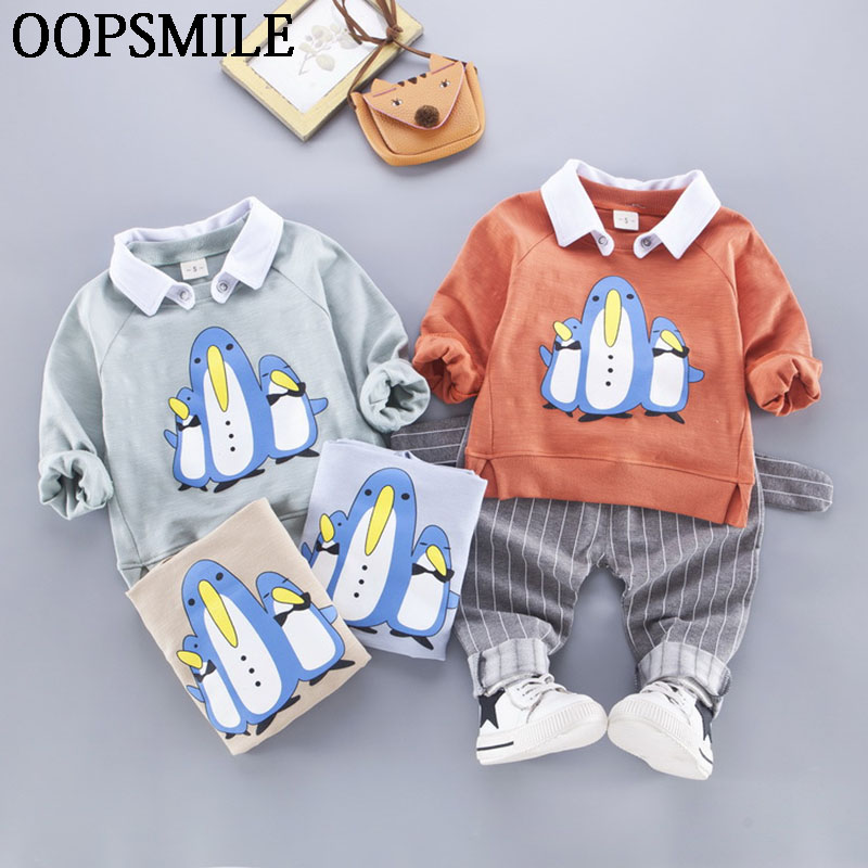 Kids baby girts Clothes New Arrival Spring Autumn Casual Cute Cartoon Lapel Coat+Casual Pants 2pcs Suit Baby Sports Suits 2017 new cartoon pants brand baby cotton embroider pants baby trousers kid wear baby fashion models spring and autumn 0 4 years