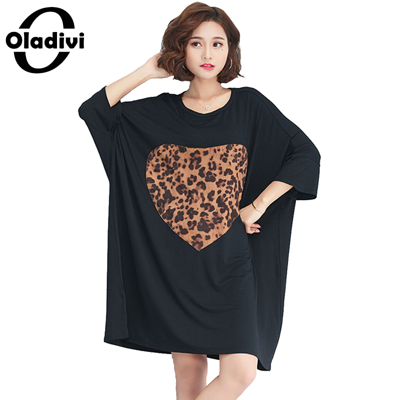8231a16c20f Oladivi Brand Clothing Plus Size Women Casual Loose Summer Dresses Ladies  Cotton Dress Long Tunic 2018 New Vestidos Femininos-in Dresses from Women s  ...