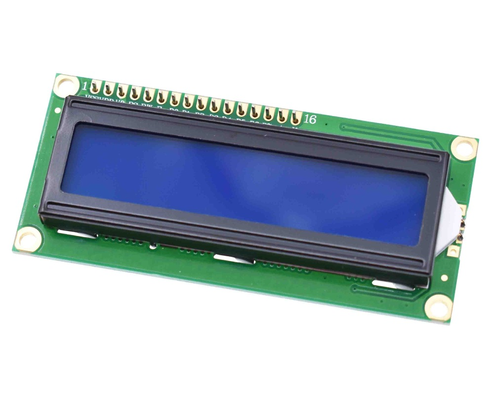 1lot=2pcs 1pcs 1602 16x2 HD44780 Character LCD Blue + 1pcs IIC/I2C 1602 Serial Interface Adapter Module