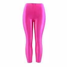 21 Colors Plus Size Fluorescent Color Women Leggings Elastic Leggings Spandex Multicolor Shiny Glossy Leggins Trousers