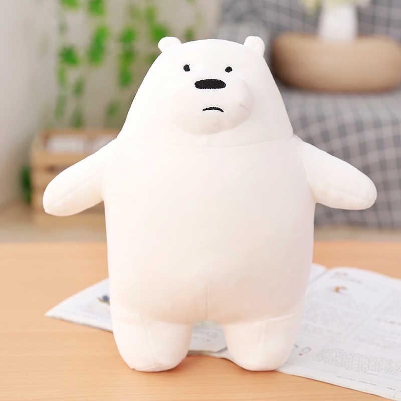 Шт. Новый см 1 шт. 28 см Kawaii Мы Голые Медведи Плюшевые игрушки мультфильм мягкая гризли серый белый медведь панда кукла Дети Рождество подарок на день рожден