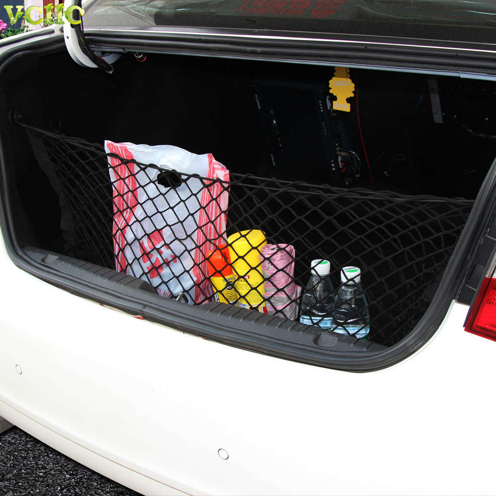 Universal envelope style trunk cargo net for toyota avalon camry corolla yaris 4runner hiace highlander hilux