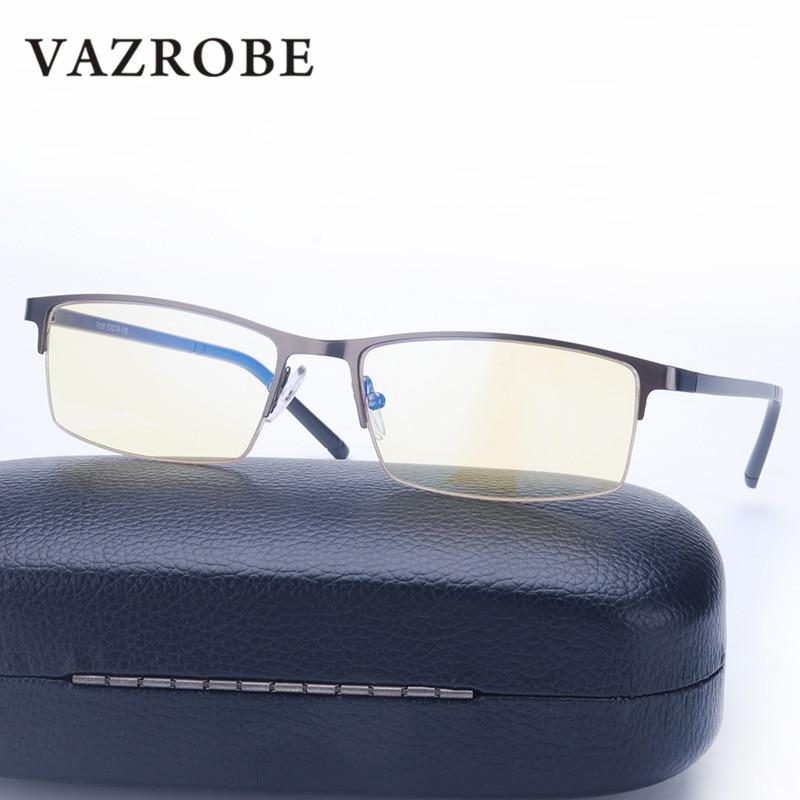 Vazrobe Computer Glasses Men Women Anti Blue Light Radiation Ray eyeglasses frame Yellow Lens tint Gaming Eye Protect UV Work