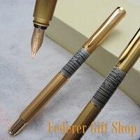 Fuliwen F06 уникальный ромбовидный Гепард графическая ручка корпус 10 к золотой перо авторучка Высокое качество Золотой подарок чернильная ручк...