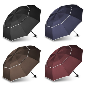 Image 5 - Double Golf Umbrella Rain Women Windproof 3Floding Large Male Women Umbrella Non Automatic Business Umbrella For Men Paraguas