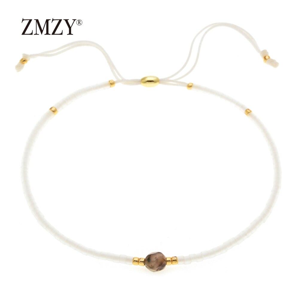 ZMZY Brand Natural Stone Simple Bracelet Beads Adjustable