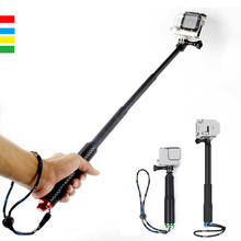 High quality Portable  Handheld  Extendable Monopod Waterproof Telescoping  Selfie Stick for Gopro 3 4 5 Action Camera portable waterproof monopod tripod telescoping extendable pole handheld camera tripod