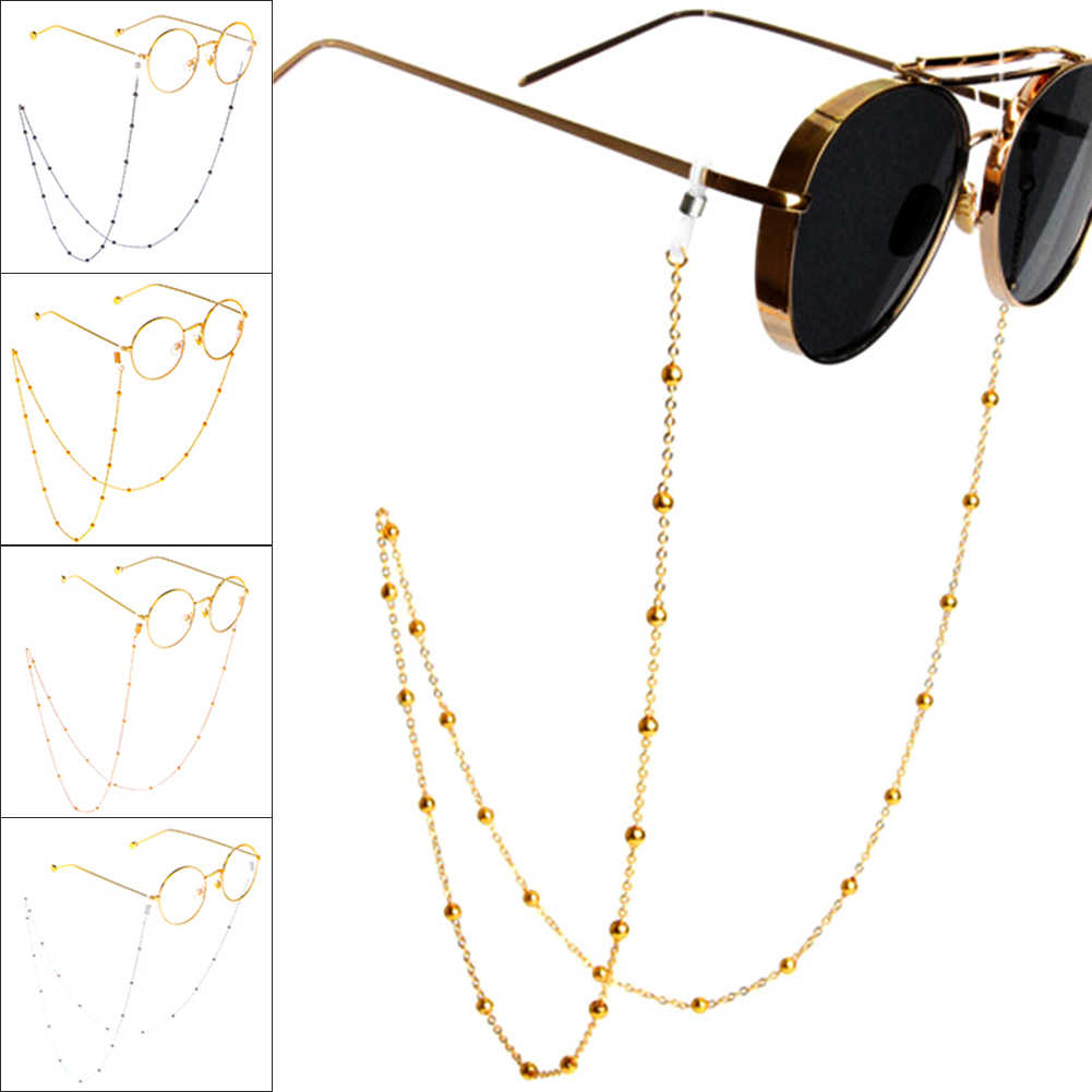 70cmFashion Chic Womens Gold Silver Eyeglass Chains Sunglasses Reading Beaded Glasses Chain Eyewears Cord Holder neck strap Rope