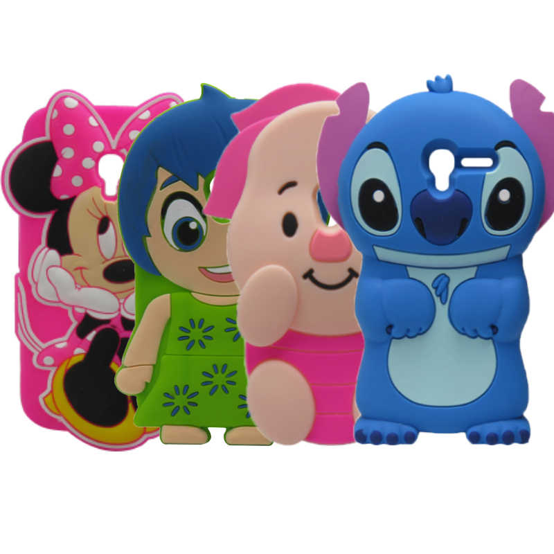 4013d Cute Girl Minnie Pig Soft Silicone Case For Alcatel One Touch Pixi 3 4.0inch 4013 4013X 4013A 4014X Cover Phone Bags