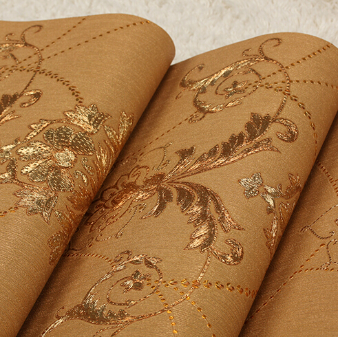 European Luxury Black Gold Wallpaper Living Room Bedroom Ceiling Mural For Walls 3D PVC Wall Paper Roll In Wallpapers From Home Improvement