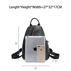 Image 4 - Zency 100% en cuir véritable quotidien sac à dos décontracté pour les femmes classique noir étudiant cartable Vintage dame sac à dos de haute qualité
