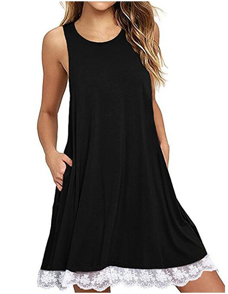 Women Summered Dress Femme Summer Casual Sleeveless Dress Elegant Womens Colthing Dresse ...
