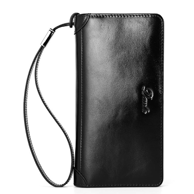 где купить  100% Genuine Leather Wallellet Men's Womens Lady Network modeling Clutch Bag Strap Travel Big Capacity for 2017 Gift  по лучшей цене