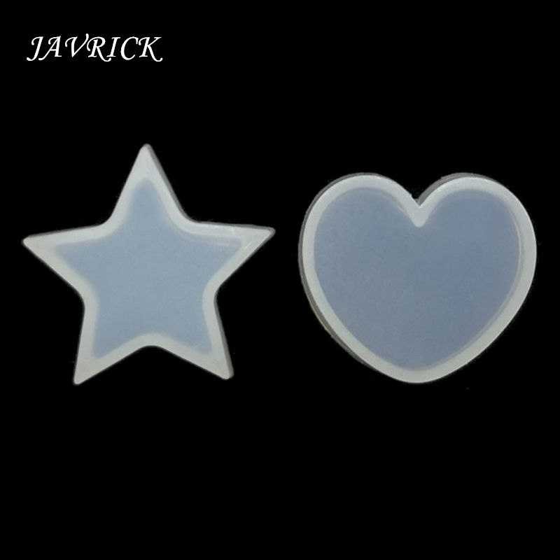 DIY Star Heart Silicone Resin Mold Resin Necklace Pendant Jewelry Making DIY Tools